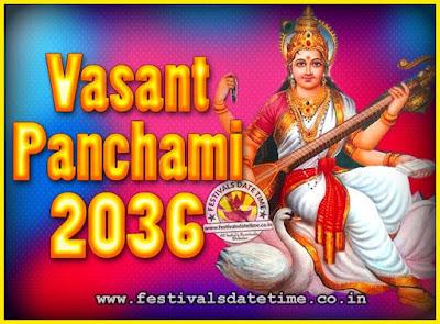 2036 Vasant Panchami Puja Date & Time, 2036 Vasant Panchami Calendar