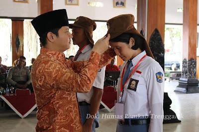 Wakil Bupati Trenggalek Pimpin Pembukaan Pelatihan Paskibraka Tahun 2018