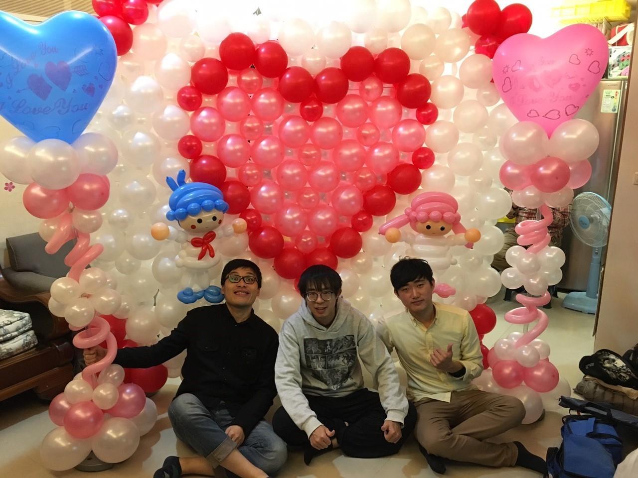 氣球求婚場地佈置