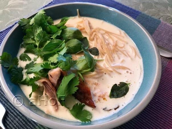 Coconut Chicken Soup with Huli Huli Chicken