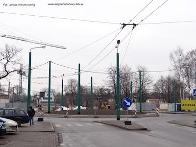 Nowe rondo przy dworcu kolejowm w Tychach