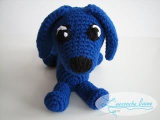 L'accroche laine - Croquette - Le chien saucisse