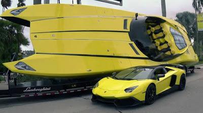 Lancha inspirada Lamborghini Aventador
