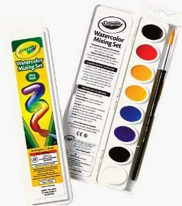396d172a2 Watercolor Paint: Okay, I used to HATE teaching watercolor until I was  introduced to these Crayola Color Mixing Sets (I promise that Crayola is  not ...