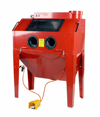 perfect sandblasting cabinet for diy powder coating