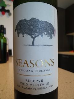 Wine review of 2010 De Sousa Seasons Meritage Reserve