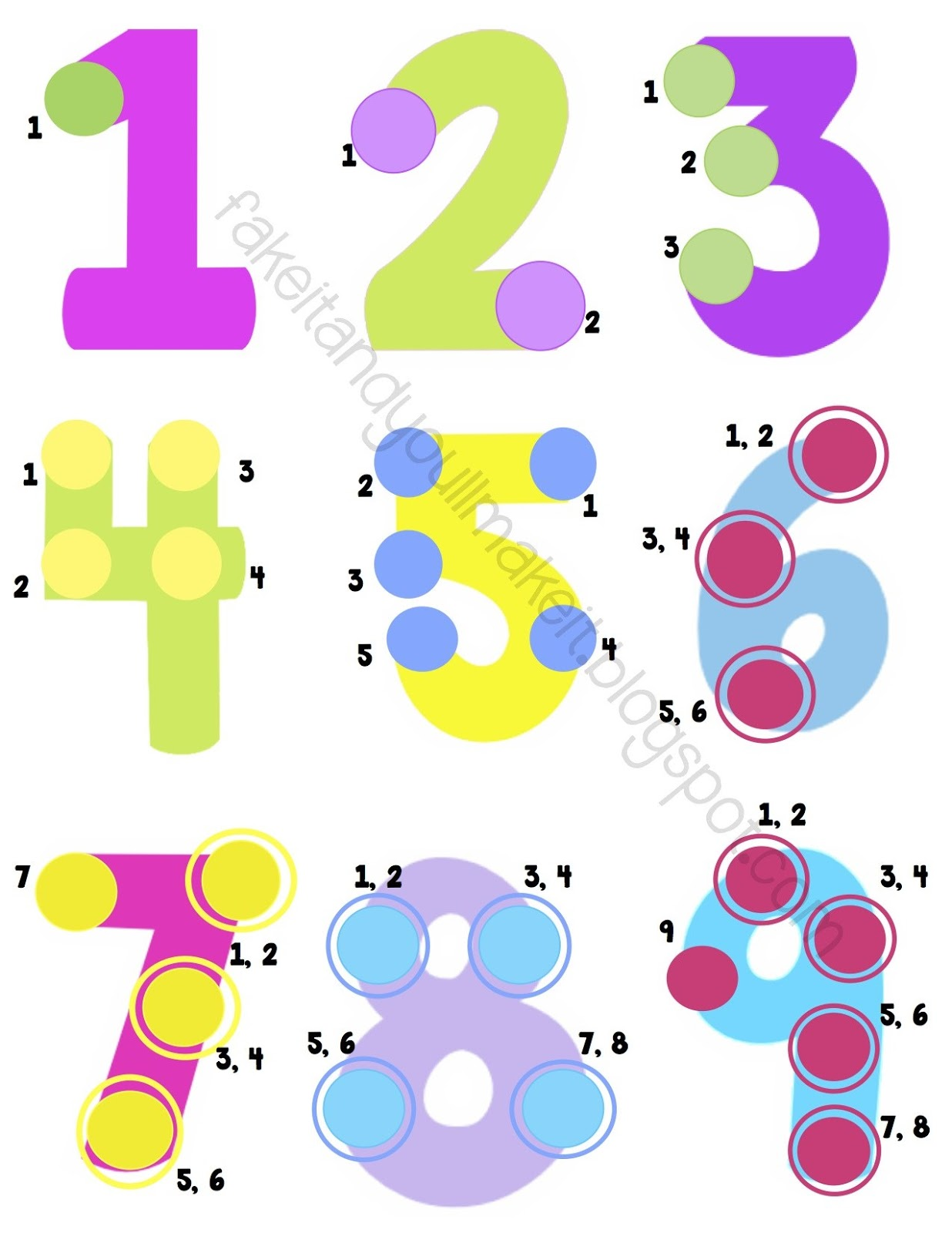 Worksheets Touch Math Free Worksheets touch math daway dabrowa co math