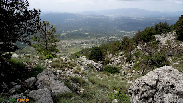 """Subida lineal al Pico Atalaya, """"techo de Albacete"""" en la Sierra de las Cabras."""