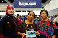 indígena Maya en participar en la Maratón de Los Ángeles
