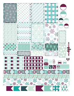 sugar plum christmas planner sticker printable