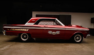 1963 Ford Fairlane 500 Thunderbolt Burgundy Color Re-Modified Side