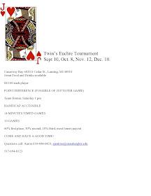 Euchre Tournament MI
