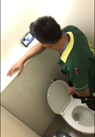[909] Nice boy masturbating in toilet