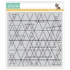 SSS Abstract Triangles cling stamp