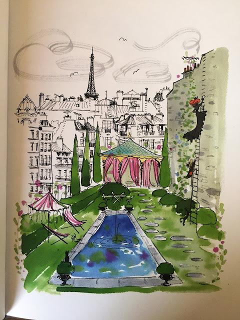 """Recenzje #101 - """"Mademoiselle Oiseau w Argentynii"""" - rysunek 1 - Francuski przy kawie"""