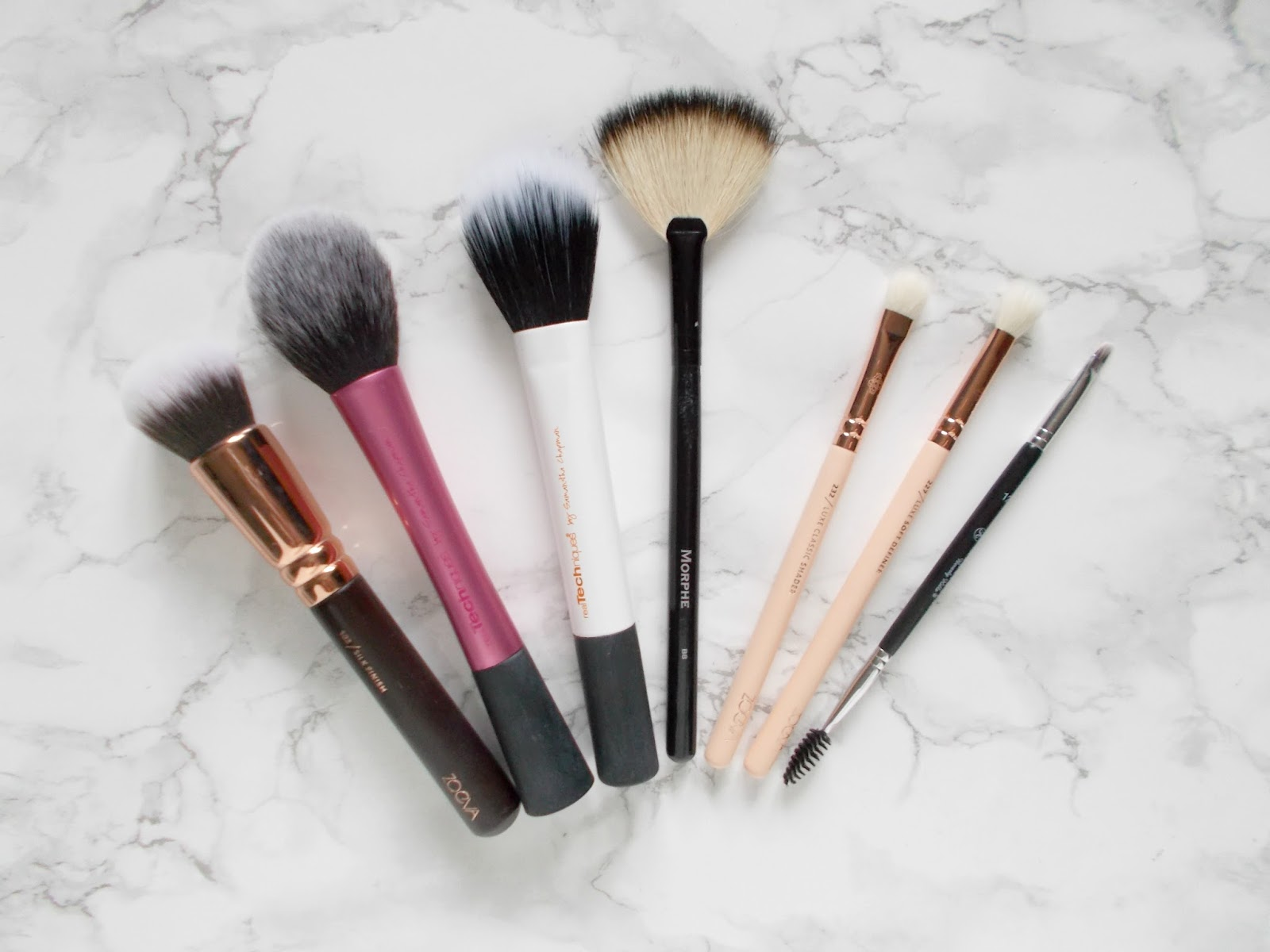 favourite makeup brushes zoeva real techniques morphe anastasia beverly hills