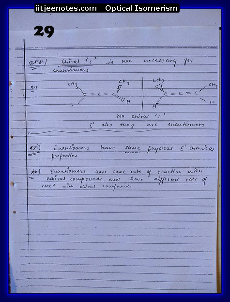Optical Isomerism Notes jee1