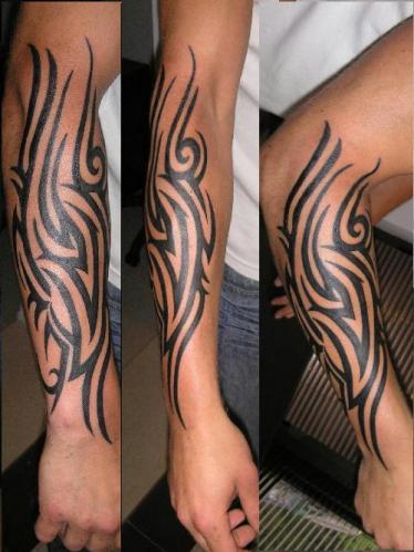 Tribal Forearm Tattoo
