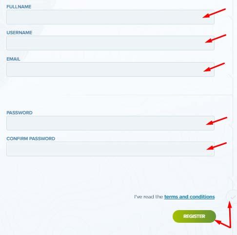 Регистрация в Bitcolex 2