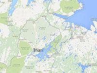 Jezioro Inari wFinlandii
