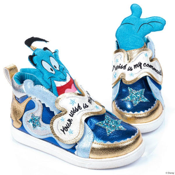 blue metallic Disney Aladdin Genie trainers