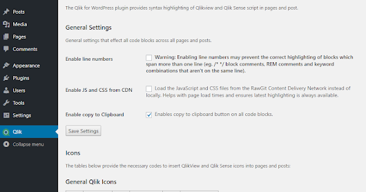 Qlik for WordPress Plugin v2.0