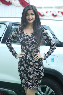 Kritika Telugu cinema Model in Short Flower Print Dress 051.JPG