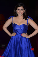 Mannara Chopra in Deep Neck Blue Gown at Zee Telugu Apsara Awards ~  Exclusive 005.jpg