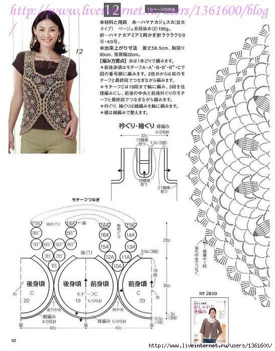 TEJER GANCHILLO CROCHET: Blusas a crochet con patrón fáciles de hacer
