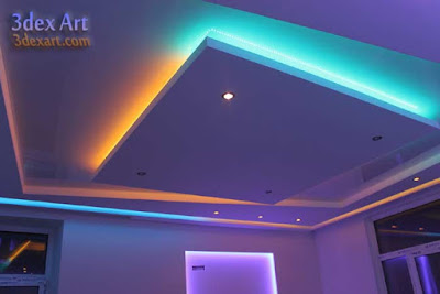 false ceiling designs for living room and hall 2018, ceiling designs 2018, ceiling led light, plasterboard ceiling