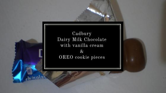 Cadbury Dairy Milk Chocolate with Vanillia Cream and Oreo Cookie Pieces