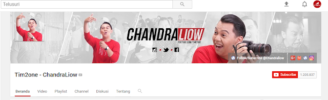channel youtube tim2one chandraliow