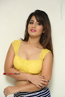 Cute Telugu Actress Shunaya Solanki High Definition Spicy Pos in Yellow Top and Skirt  0053.JPG