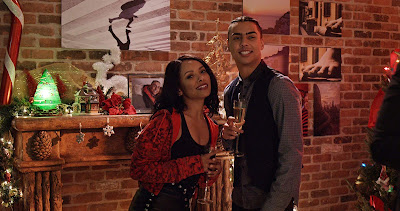 The Holiday Calendar 2018 Netflix movie still Kat Graham Quincy Brown