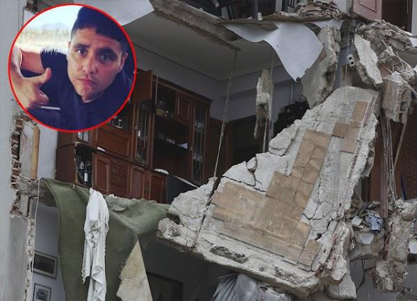 Cantante mexicano que se burló del sismo se le derrumba la casa. No hubo heridos.