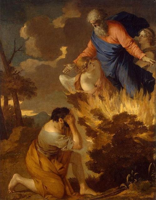 #PraCegoVer: A sarça ardente. Quadro do Museu Hermitage em São Petersburgo.