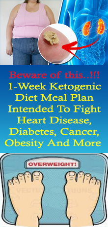 1-Week Ketogenic Diet Meal Plan Intended To Fight Heart Disease, Diabetes, Cancer, Obesity And More #HEALTH #healthandfitness