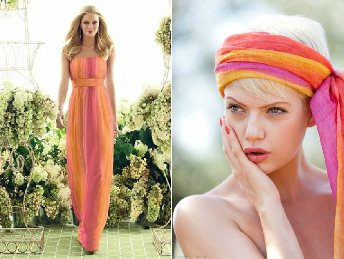 Cheap Wedding Dresses With Color: BRIDE CHIC: ORANGE & FUCHSIA: THE COLORS OF GUCCI AND PUCCI