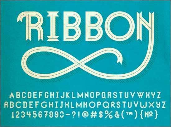 55+ Top Free Ribbon Fonts