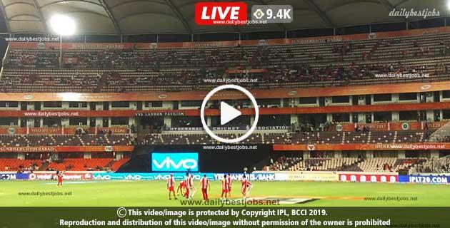 SRH Vs CSK Live Score 33rd T20 Online Cricket IPL 2019
