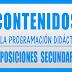 CONTENIDOS PROGRAMACIÓN DIDÁCTICA OPOSICIONES SECUNDARIA 2019-2020
