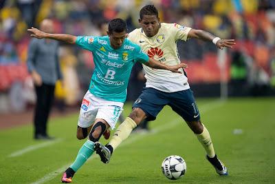 León empata contra América 1 a 1