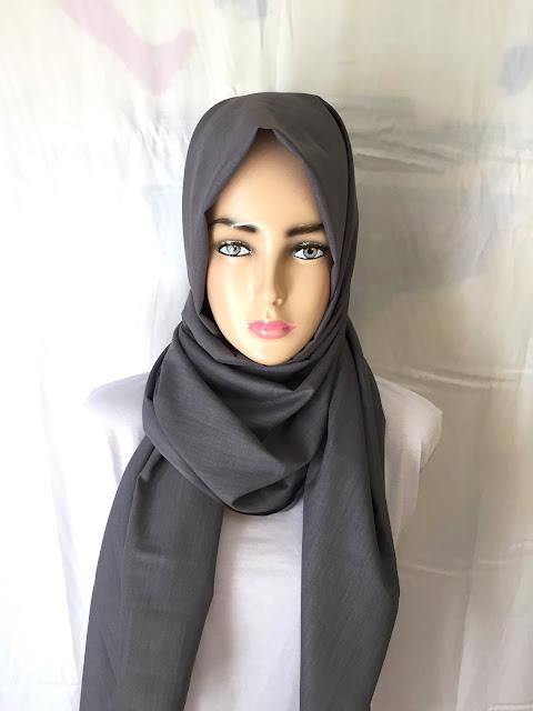 Model Hijab Pashmina Abu - Abu Murah Tanah Abang