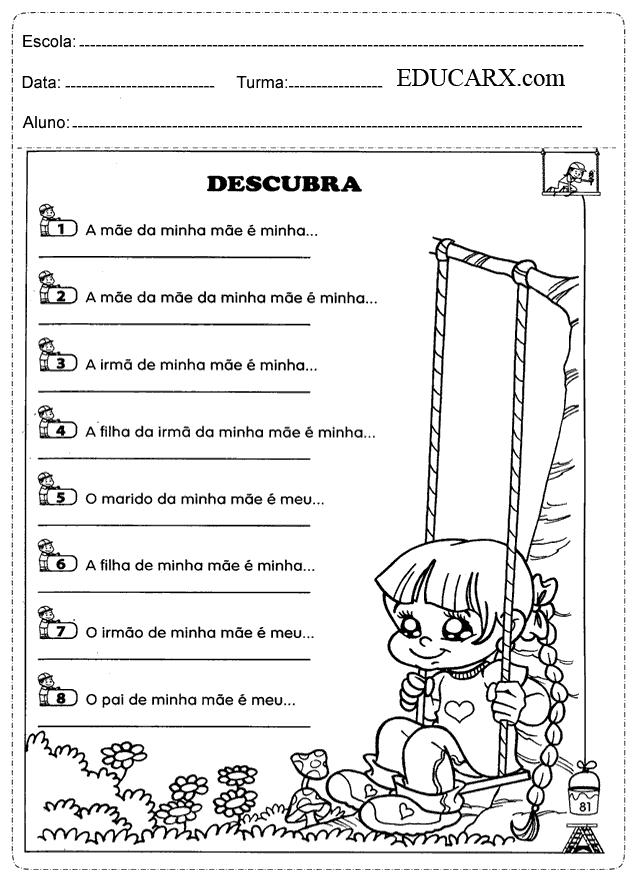 Educar X Atividades Do Dia Das Maes Para Imprimir