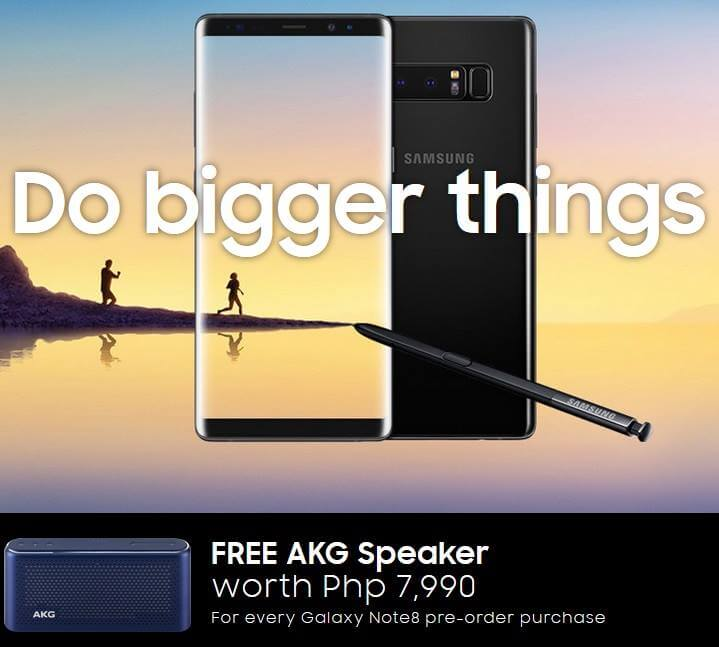 Pre-order Samsung Galaxy Note 8 and Get Free AKG S30 Speaker Worth Php7,990