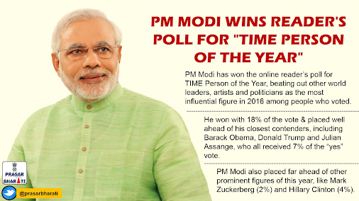 Narendra Modi Wins Reader's Poll for TIME Person of the Year 2016 Indian Prime Minister Narendra Modi...