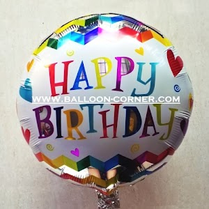 Balon Foil Bulat Motif HAPPY BIRTHDAY / Balon Foil Bulat HBD (15)