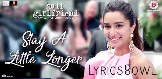 Stay a Little Longer Lyrics - Shahaney | LyricsBowl