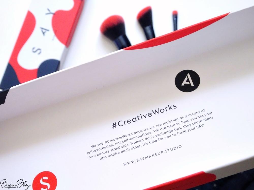 pędzle do makijażu SAY Makeup, pędzle syntetyczne, #creativeworks