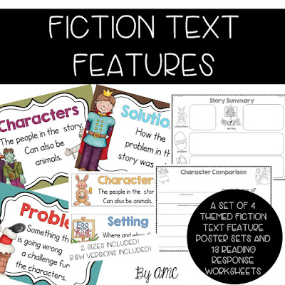 fiction text feature posters